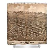 Map Of Salt Lake City 1875 Shower Curtain
