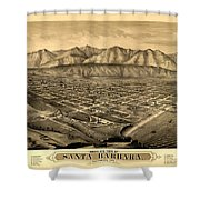 Map Of Santa Barbara 1877 Shower Curtain