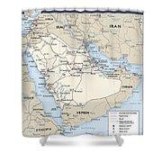 Map Of Saudi Arabia 2 Shower Curtain