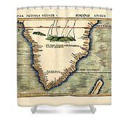 Map Of South Africa 1513 Shower Curtain