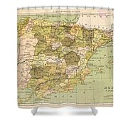 Map Of Spain Shower Curtain