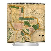 Map Of Texas 1834 Shower Curtain