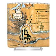 Map Of The Alamo Area In San Antonio Shower Curtain