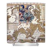 Map Of The Christmas Flood Of 1717 Shower Curtain