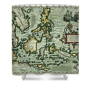 Map Of The East Indies Shower Curtain