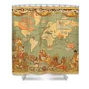 Map Of The Extent Of The British Empire 1886  Shower Curtain