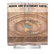 Map Of The Flat Earth Shower Curtain