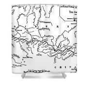 Map Of The Trans-siberian Railway Shower Curtain