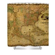 Map Of The United States 1849 Shower Curtain