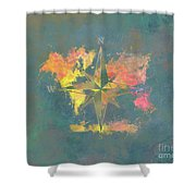Map Of The World Wind Rose 2 Shower Curtain