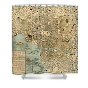 Map Of Tokyo 1854 Shower Curtain