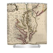 Map Of Virginia And Maryland Shower Curtain