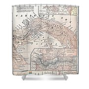 Map: Panama, 1907 Shower Curtain