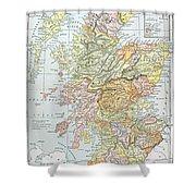 Map: Scotland Shower Curtain