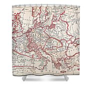 Map: Thirty Years War Shower Curtain