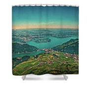 Map View Shower Curtain
