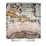 Map: West Indies Shower Curtain
