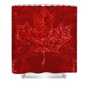 Maple Leaf Filigree Pattern Shower Curtain