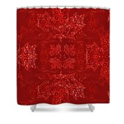 Maple Leaf Filigree Tiled Pattern Shower Curtain