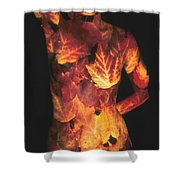 Maple Leaves Shower Curtain by Arla Patch