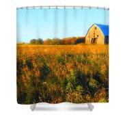 Maple Ridge Fall Barn Shower Curtain