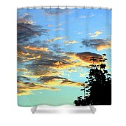 Maple Silhouette Shower Curtain