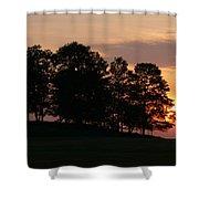 Maple Sunset Shower Curtain