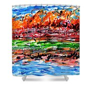 Maple Trees On The Lake Shower Curtain