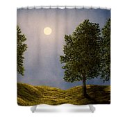 Maples In Moonlight Shower Curtain