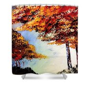 Maples Shower Curtain