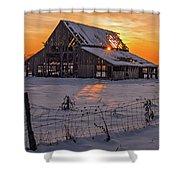 Mapleton Barn Shower Curtain by Wesley Aston