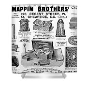 Mappin Brothers Ad, 1895 Shower Curtain