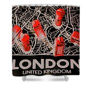 Maps From London Town Shower Curtain