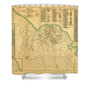 Maps Map Of Bar  Shower Curtain