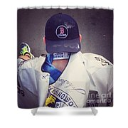 Boston Marathon True Grit  Shower Curtain