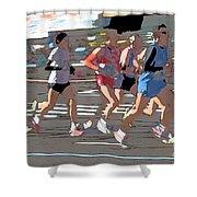 Marathon Runners II Shower Curtain