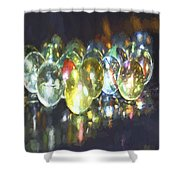 Marble 6 Shower Curtain