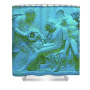 Marble Angel Relief Shower Curtain