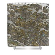 Marble Bark Colored Abstract Shower Curtain