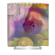 Marble Fish Shower Curtain
