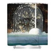 Marble Fountain Shower Shower Curtain