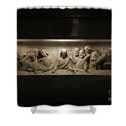 Marble Last Supper Shower Curtain
