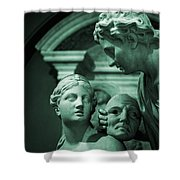 Marble Statue Catus 1 No. 2 H B Shower Curtain