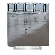 Marbled Gotwit By Mike-hope Shower Curtain