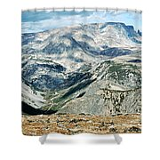 Marbled Mountains Shower Curtain
