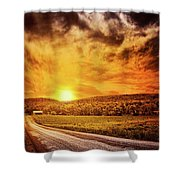 Marbled Sky Shower Curtain