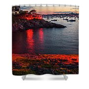Marblehead Harbor Illumination 2017 Chandler Hovey Shower Curtain