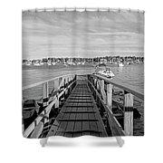 Marblehead Massachusetts Dock Shower Curtain