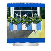 Marblehead Planter Box Shower Curtain