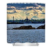Marblehead Points To The Ocean Shower Curtain